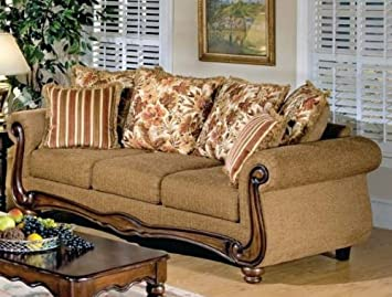 ACME 50310 Olysseus Sofa with Floral Design, Brown