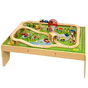 BigJigs Toys Bigjigs Train Set and Table Combination in a Box at Sears.com