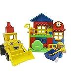 Dream Builders City Construction Bulldozer Lego Style Blocks Set (48-Piece), Red/Yellow/Green/Blue