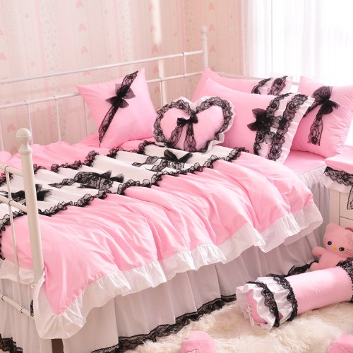 Shabby Chic Pink Bedding 336 back