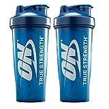 Optimum Nutrition Blender Bottle Brand Shaker Cup Value Pack | 2 28oz Blue Bottles Value Pack (Color: Blue)