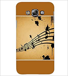 PrintDhaba Music Notes D-1428 Back Case Cover for SAMSUNG GALAXY A7 (Multi-Coloured)