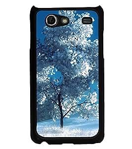 Printvisa Ultra White Tree 2D Hard Polycarbonate Designer Back Case Cover for Samsung I9070 G...