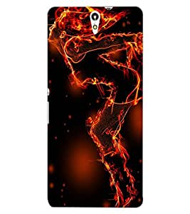 ColourCraft Flaming Girl Design Back Case Cover for SONY XPERIA C5 ULTRA