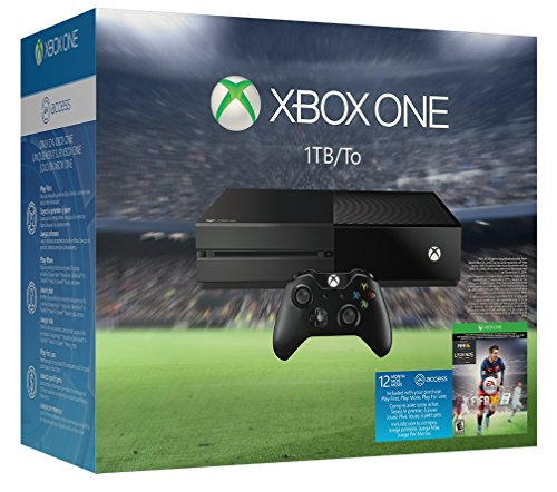 Xbox One 1 TB Console – EA Sports FIFA 16 Bundle