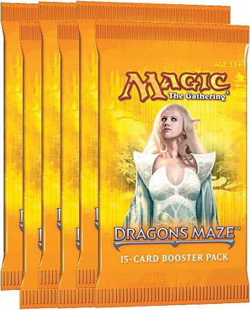 6 (Six) Packs Of Magic The Gathering Mtg: Dragon'S Maze Booster Pack Lot (6 Packs) front-795026