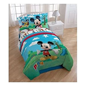 amazon com mickey mouse clubhouse twin comforter and