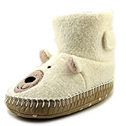 Hanna Andersson Snowbear Slipper (Toddler/Little Kid/Big Kid),White,9 M US Toddler
