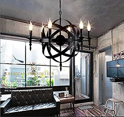 Candles globe lamp wrought iron birdcage chandelier