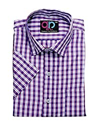 Formals by Koolpals-Rich Cotton Blend-Red, Blue & White Coloured Check Shirt.