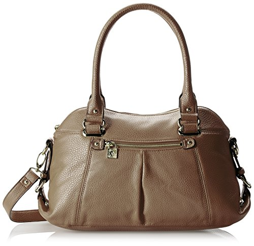Anne Klein Trinity Satchel Medium Top Handle Bag,Earth,One Size