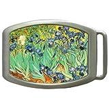 Fine Art Vincent Van Gogh Irises Kids Belt Buckle