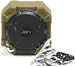 Jarv X96 Rugged Indoor / Outdoor 5 Watt Bluetooth Portable Speaker with X BASS Passive Sub, IPX5 Rated Water Resistance, Shockproof and Dustproof , with up to 5 hours of Play time - Military Green