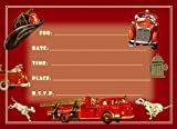 Dolce Mia Firefighter Birthday Party Invitations Party Pack - 8 cards