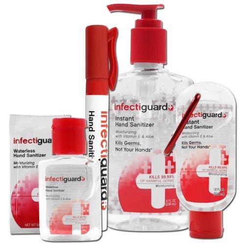 7 piece InfectiGuardR Hand Sanitizer Set