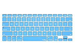 Kuzy - SKY BLUE Keyboard Cover Silicone Skin for MacBook Pro 13\