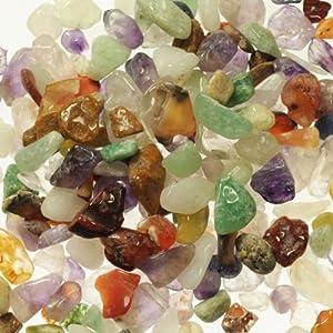New! 1 Kilo Tumbled Undrilled Small Gemstone Chips - 1 Kilo Bag