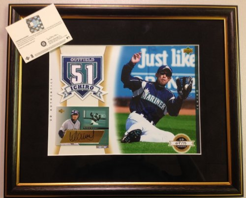 Ichiro Suzuki Autograph Upper Deck Authentics UDA Framed Seattle Mariners signature signed at Amazon.com
