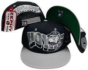 Buy Georgetown Hoyas Navy Grey Two Tone Plastic Snapback Adjustable Plastic Snap Back Hat Cap by Zephyr