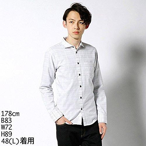 MKオム(MK homme) シャツ(トリコリバーチェック長袖シャツ)【ホワイト×トリコロール系/46(M)】
