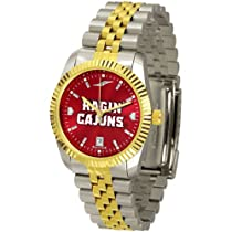 "Louisiana Lafayette Ragin Cajuns NCAA AnoChrome ""Executive"" Mens Watch"
