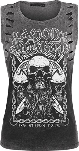 Amon Amarth Beardskulls Top donna grigio scuro M