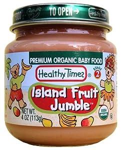 Healthy Times Organic Baby Food, Island Fruit Jumble, 4-Ounce Jars (Pack of 12)