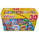 Kellogg's Cereal 30 Individual Box Variety Pack 32.73 Total Ounces - Value Box