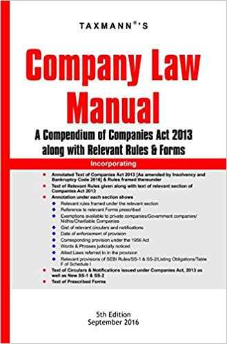 Company Law Manual (5th Edition, September 2016)
