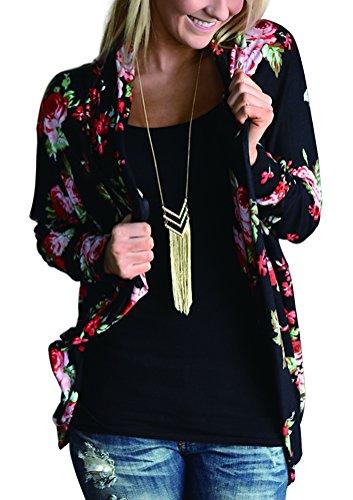 amiery-womens-floral-kimono-boyfriend-cardigan-open-front-fall-sweaters-m-black