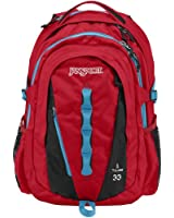 """JanSport Tulare Backpack - High Risk Red / 18.8""""H x 12.5""""W x 10.2""""D"""