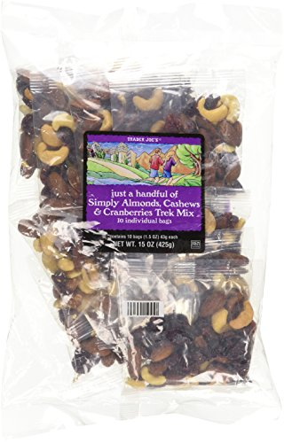 Trader Joe's Just A Handful of Simply The Best Almonds, Cashews & Cranberries Trek Mix 10 Individual Bags (Nut Packs compare prices)