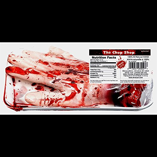 [Horror Prop BLOODY SEVERED HAND Chop Shop Meat Body Part Halloween Decoration] (Body Central Halloween Costumes)