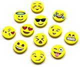 120-Pack of Emoji Erasers by LiveEco | Includes Top 12 Most Popular Emoji Faces (10 of Each Face) | Great for Classroom Prizes & Party Favors