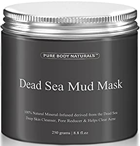 THE BEST Dead Sea Mud Mask, 250g/ 8.8 fl. oz. - Dead Sea Mud Mask Best for Facial Treatment, Minimizes Pores, Reduces Wrinkles, and Improves Overall Complexion - Dead Sea Minerals Help to Pull Toxins Out of the Skin - Facial Mask Provides Relief from Acne