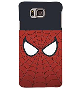 PrintDhaba SpiderMask D-4478 Back Case Cover for SAMSUNG GALAXY ALPHA (Multi-Coloured)