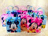 24pc Disney Mickey & Minnie Mouse Goodie Bags Party Favor Bags Gift Bags