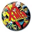 《MARVEL/X-MEN(LOGO)》1インチ缶バッジ☆アメコミファッショングッズ通販☆