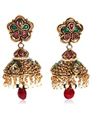 Bubber Beauty Palace Multi-Colour Brass Jhumki Earring For Women (BBP - BFER-612)
