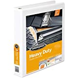 Wilson Jones Heavy Duty D-Ring View Binder with Extra Durable Hinge, 1.5 Inch, White (W385-34W)