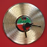 """Led Zeppelin Gold LP Record Clock Laser Etched W/ Lyrics To """"Stairway To Heaven"""""""