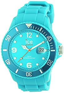ICE-Watch - Montre Mixte - Quartz Analogique - Ice-Forever - Turquoise - Big - Cadran Turquoise - Bracelet Silicone Turquoise - SI.TE.B.S.13