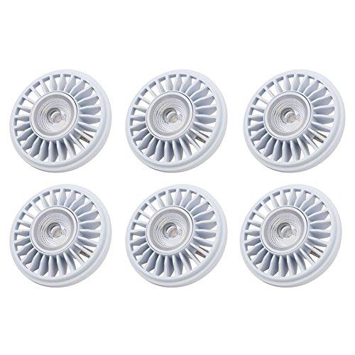 Amazingled *Pack Of 6* 12W (Equivalent To 50W) Par36 Dimmable Led Spot Light Bulb,700 Lumen 12V Cool White 5000K