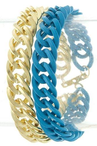 Karmas Canvas Double Chain Bracelet (Blue)