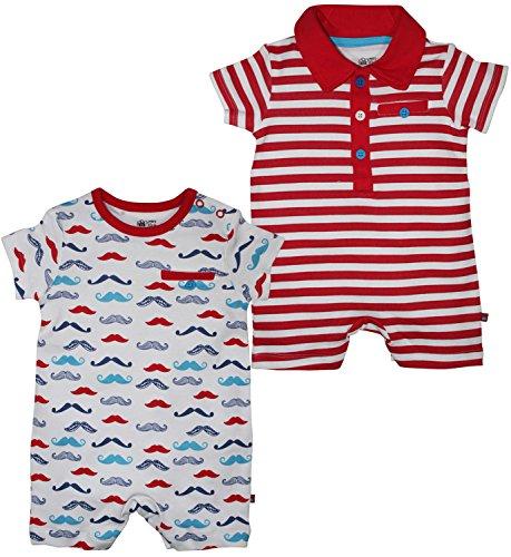 FS Mini Klub Baby Boys Cotton Romper - Pack of 2 (6-9 Months)