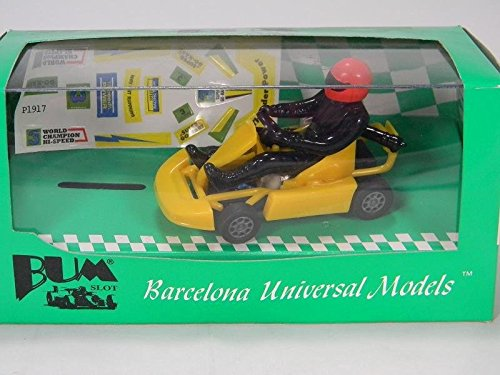 BUM SLOT CARS Go-Kart Thunder Power Yellow 1/32 BUMBS-101