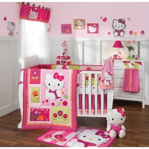 0e628f8a3 Best 6 Piece Bedding Set For Baby Girls. Lambs & Ivy Hello Kitty Garden 5 Nursery  Baby Crib Bedding Set and Bumper