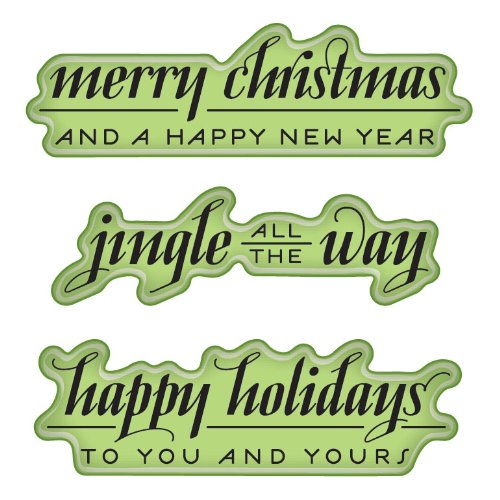 Inkadinkado Cling Stamps Holiday Greetings