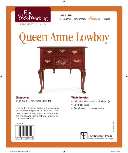 Fine Woodworking'S Queen Anne Lowboy Plan front-721698