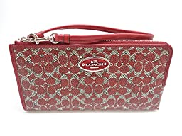 Coach CC Signature LZP Zippy Wallet Red 52462SRDRD